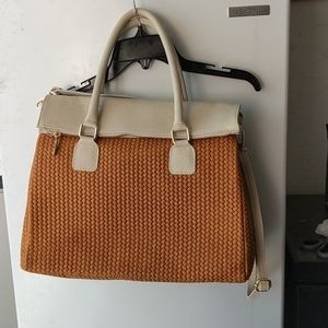 Persaman Weave Texture Satchel Hand and Long Strap